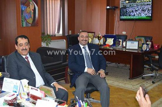 الشباب والرياضة تستقبل قنصل فلسطين بالإسكندرية (2)