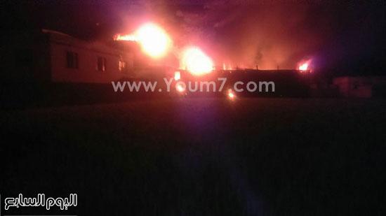 حريق مصنع الغزل بفوه بكفر الشيخ  (1)