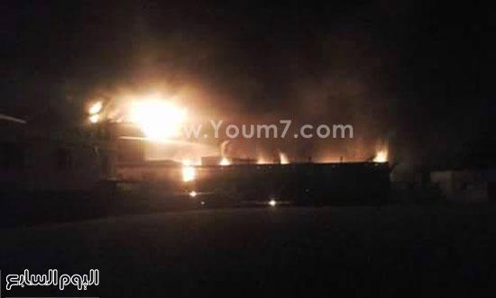 حريق مصنع الغزل بفوه بكفر الشيخ  (2)