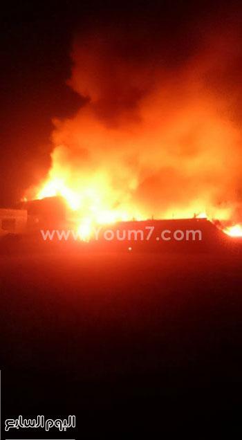 حريق مصنع الغزل بفوه بكفر الشيخ  (3)