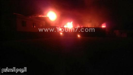 حريق مصنع الغزل بفوه بكفر الشيخ  (5)