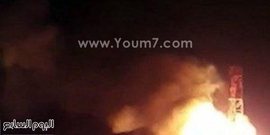 حريق فى بئر بالكويت (3)