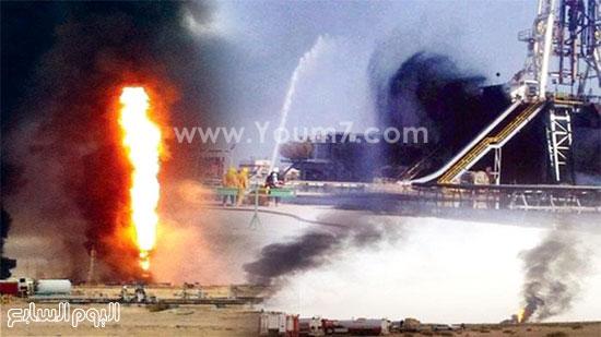 حريق فى بئر بالكويت (5)