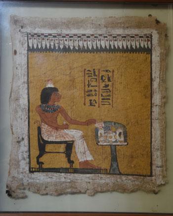 اخبار الثقافة، الاثار، المتحف المصرى، لوحة اوديب (2)