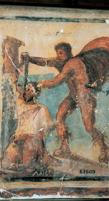 اخبار الثقافة، الاثار، المتحف المصرى، لوحة اوديب (3)