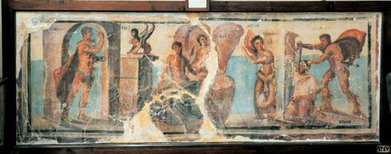 اخبار الثقافة، الاثار، المتحف المصرى، لوحة اوديب (5)