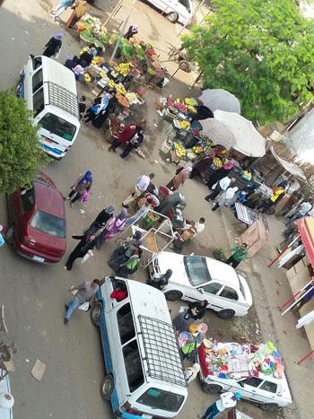 شارع 7 في المعادى، المعادى، حى المعادى، موقف ميكروباص، عشوائيات، الباعة الجائلين (4)