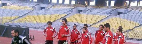تدريب قوى لمنتخب مصر باستاد برج العرب (1)