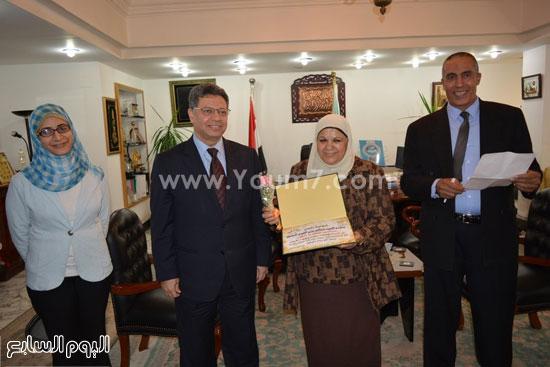 جمال سرور وزير القوى العامله يكرم المحالين للمعاش (10)