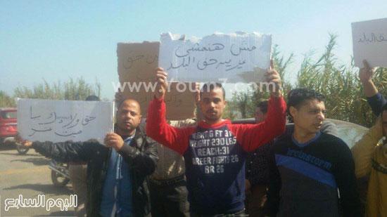 مظاهرة لسكان بقرية ميت عنتر لتوظيفهم بمصنع السماد بالدقهلية (3)