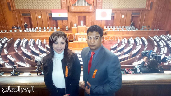 البرلمان اليابانى يستعد لكلمة السيسى (10)