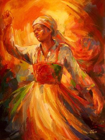 إحدى اللوحات المشاركة بمعرض تفاصيل مصرية (4)