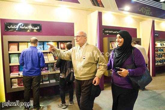 عم إسماعيل أقدم زائر لمعرض الكتاب (9)