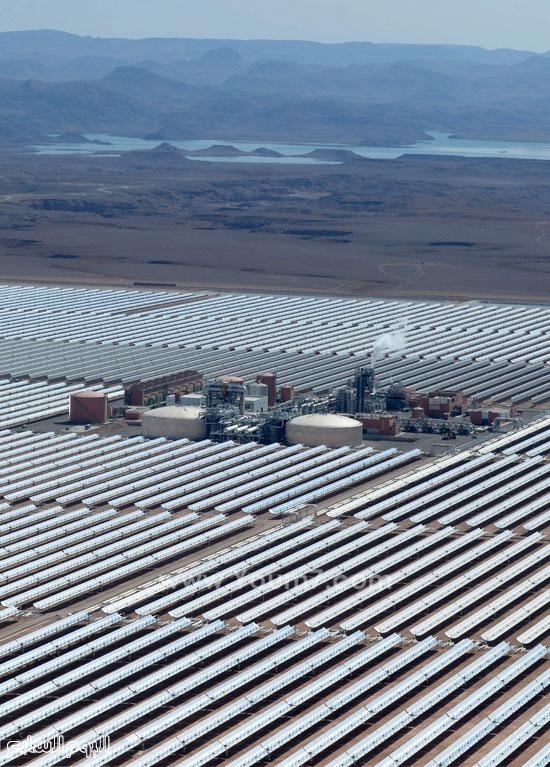المغرب يدشن المرحلة الأولى لأكبر مشروع لأنتاج الطاقة الشمسية (4)