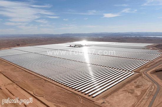 المغرب يدشن المرحلة الأولى لأكبر مشروع لأنتاج الطاقة الشمسية (5)