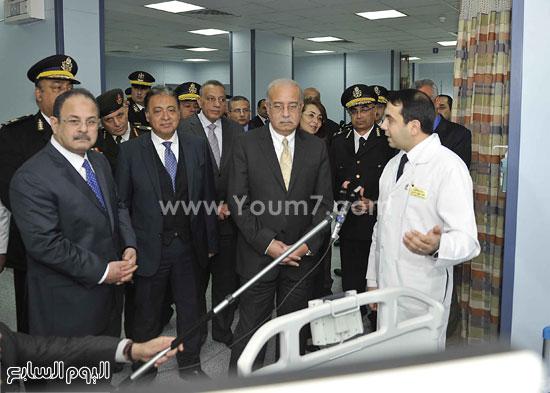 وزارة الداخلية مستشفى الشرطة  اخبار مصر شريف اسماعيل رئيس الوزراء (12)