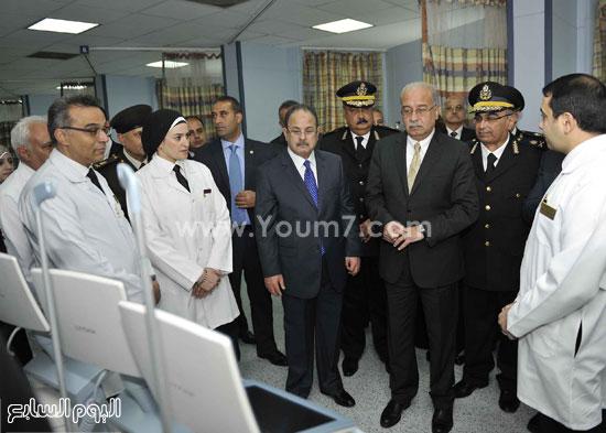 وزارة الداخلية مستشفى الشرطة  اخبار مصر شريف اسماعيل رئيس الوزراء (13)