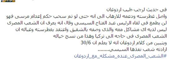 اوردغان ، مصر ، الرئيس السيسى (1)