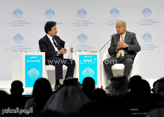 شريف اسماعيل  القمة العالمية للحكومات دبى (2)