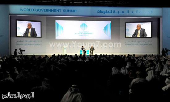 شريف اسماعيل  القمة العالمية للحكومات دبى (3)