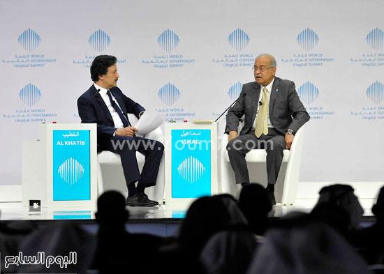 شريف اسماعيل  القمة العالمية للحكومات دبى (4)