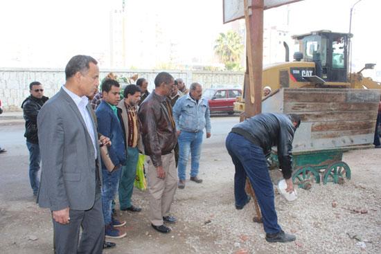 حملة ازالة اشغالات ببنى سويف (2)