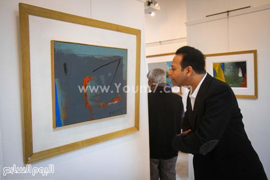 معرض - لوحات - نجيب ساويرس-فاروق حسنى (1)