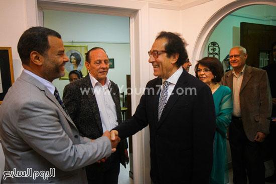 معرض - لوحات - نجيب ساويرس-فاروق حسنى (2)