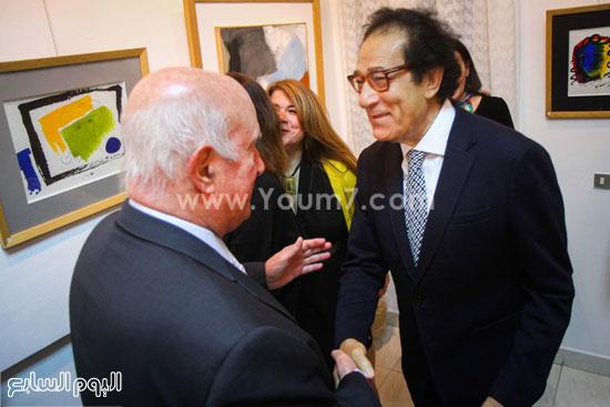 معرض - لوحات - نجيب ساويرس-فاروق حسنى (3)