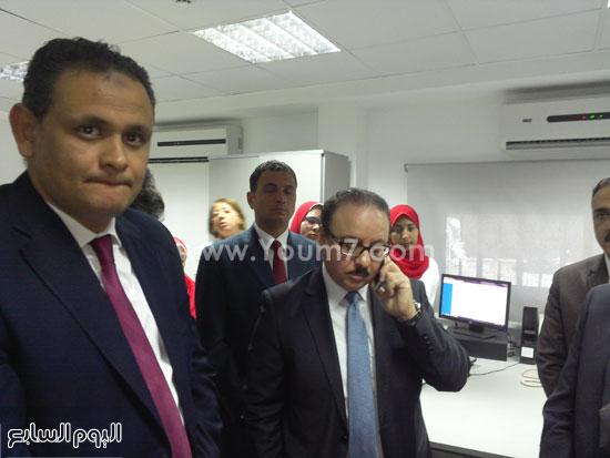 وزير الاتصالات يفتتح سنترال سموحة بالإسكندرية (1)
