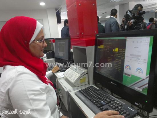 وزير الاتصالات يفتتح سنترال سموحة بالإسكندرية (2)