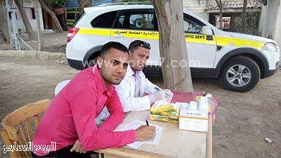 ضبط 3 سائقين يقودون تحت تأثير المخدر بكمين عيون موسى (1)