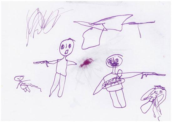 -أطفال-سوريا-يعبرون-عن-مأساة-الحرب-فى-رسوم-فنية-(1)