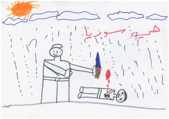 -أطفال-سوريا-يعبرون-عن-مأساة-الحرب-فى-رسوم-فنية-(4)