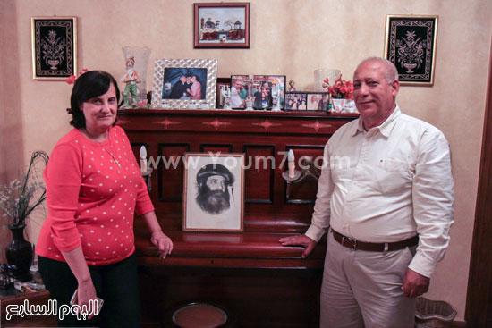 البابا شنودة مع عائلته (23)