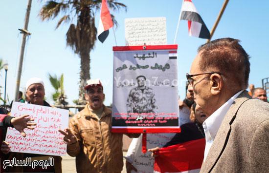 متظاهرو القائد إبراهيم يدعمون الحرب ضد الإرهاب وينعون الشهيد شريف محمد عمر (2)