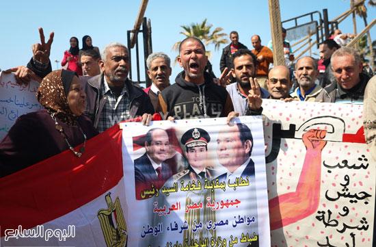 متظاهرو القائد إبراهيم يدعمون الحرب ضد الإرهاب وينعون الشهيد شريف محمد عمر (3)