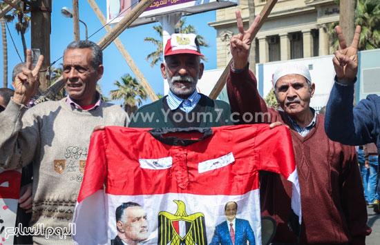 متظاهرو القائد إبراهيم يدعمون الحرب ضد الإرهاب وينعون الشهيد شريف محمد عمر (4)