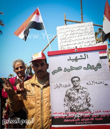 متظاهرو القائد إبراهيم يدعمون الحرب ضد الإرهاب وينعون الشهيد شريف محمد عمر (8)