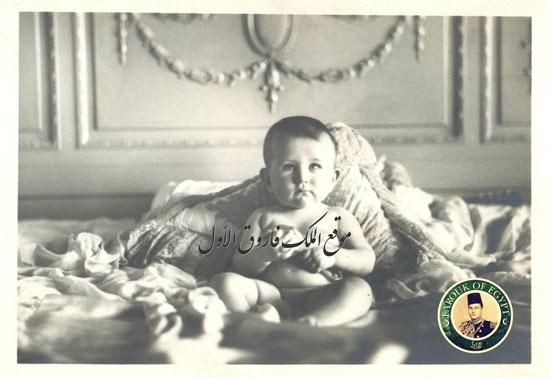 1 الطفل فاروق فى طفولته وسنوات عمره الأولى.