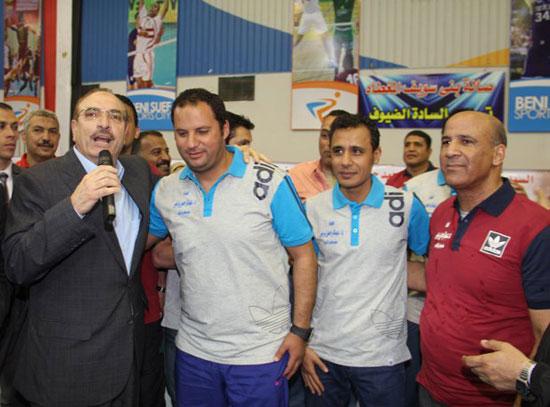 احتفالات العيد القومى لـبنى سويف بحضور- نجوم الكرة المصرية (4)
