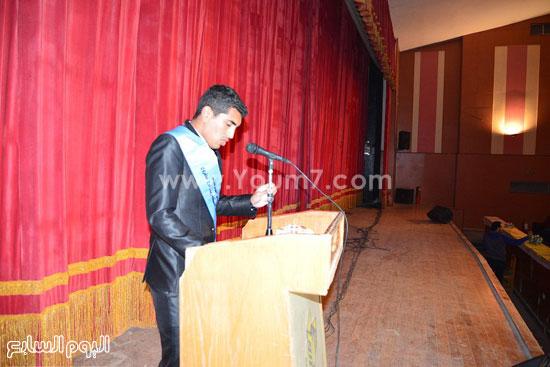 محافظ مطروح يشارك فى احتفالية تنصيب أول اتحاد طلاب للكليات (3)