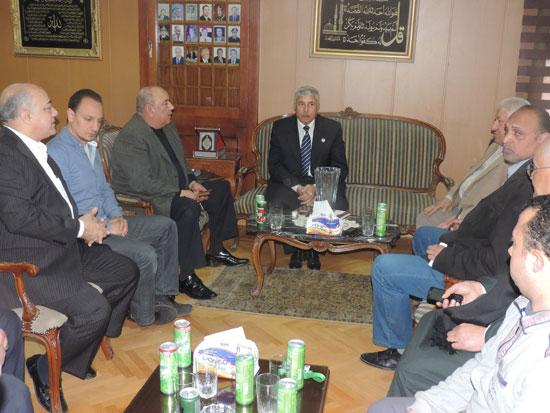 مدير أمن الغربية وأعضاء الغرف التجارية (1)
