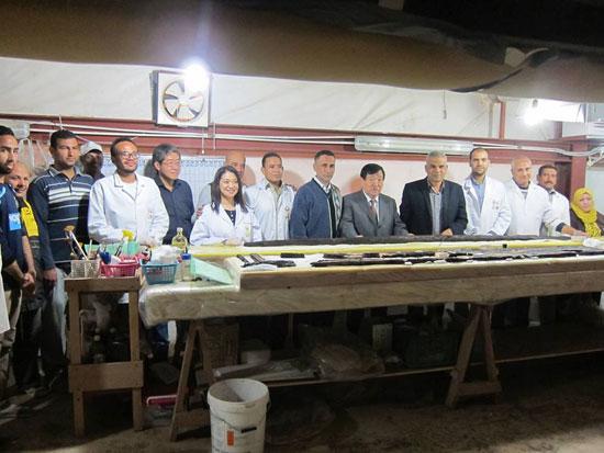 زيارة رئيس بعثات جامعة واسيدا اليابانية لمركب خوفو (3)