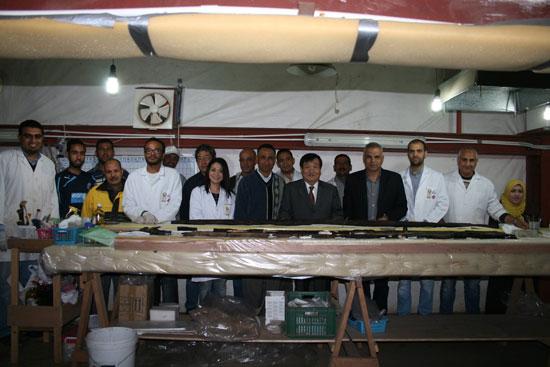 زيارة رئيس بعثات جامعة واسيدا اليابانية لمركب خوفو (4)