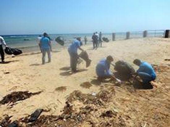 حملة نظافة لمناطق الغوص بمحمية أبو جالوم بطابا (1)