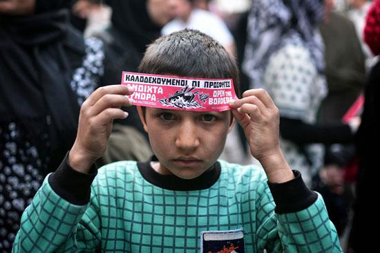 مهاجرون ولاجئون يتظاهرون فى أثينا ضد الاتفاق الأوروبى-التركى (1)