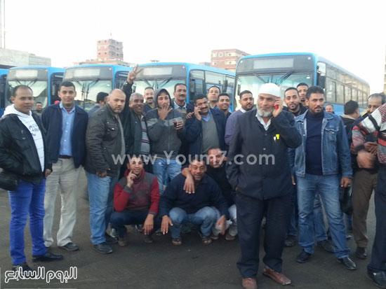 اضرب سائقى النقل العام بالإسكندرية (3)