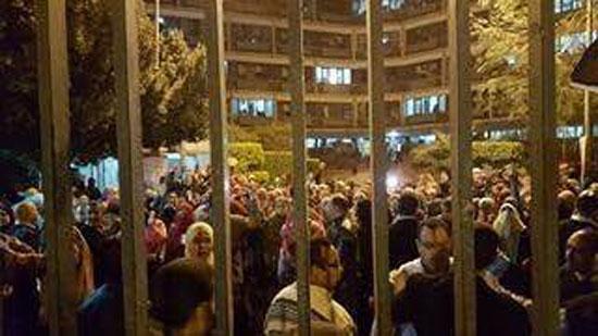 تظاهرة طالبات المدينة الجامعية بأسيوط (1)