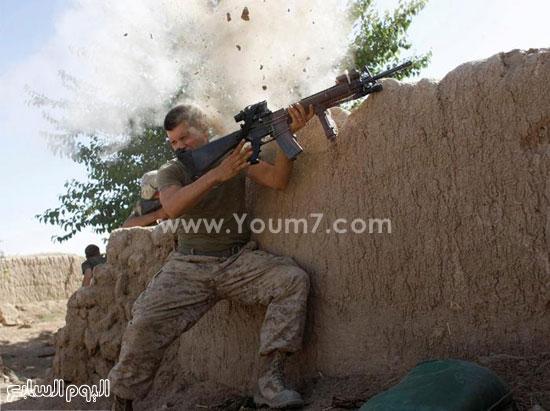 جندى يتبادل إطلاق النار  -اليوم السابع -4 -2015